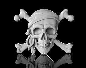 3D printable model jewel Pirate Skull