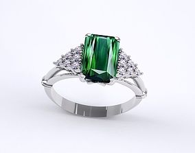 stone 3D print model ring gem