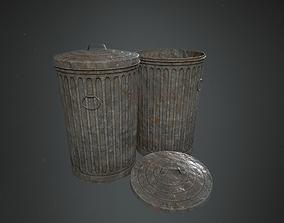 3D asset Vintage Trash Can
