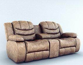3D model Sofa Ashley Revolution Burgundy 2 seats