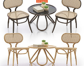 Bodystuhl and Arch Coffee Table 3D