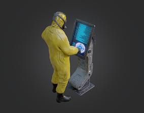 Sci Fi Lab Main Console 3D asset