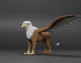 3D model Cartoon griffin