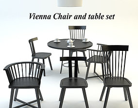 Vienna Chair and table set 3D model