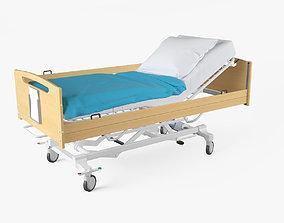 wheel 3D Hospital Bed