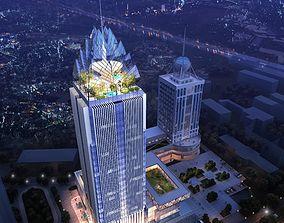 Skyscraper business building 008 3D