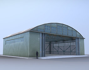 Airport Hangar SmallHangar 01 open 3D model