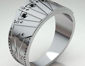 3D print model Ring Man gold