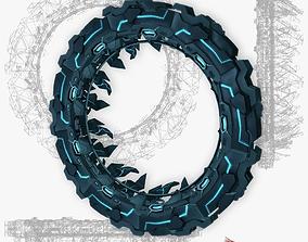 3D asset Star gates 1 low poly