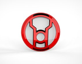 Red Lantern Logo Chest Emblem Symbol 3D print model