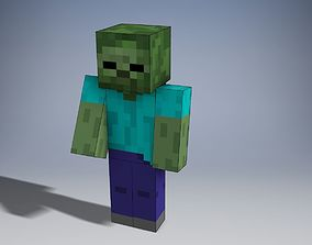Minecraft Zombie 3D print model
