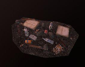 Set of garbage 3D model