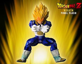 3D model VEGETA FINAL FLASH dragonball