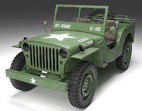 Jeep Willys Military 3D