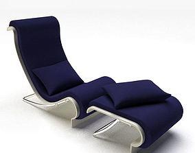 3D Purple Cushioned Chair