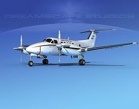 Beechcraft UC-12Q Huron V01 USN 3D