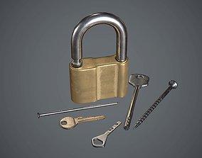 3D asset Lock with keys