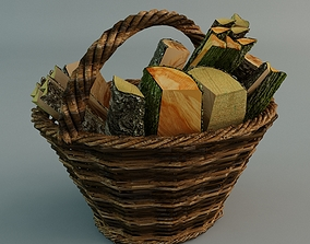Wicker Basket 3D