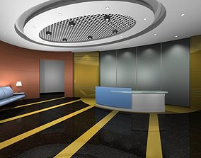 3D vator Luxury architectural Hall Lobby