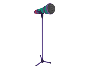 3D rigged Microphone