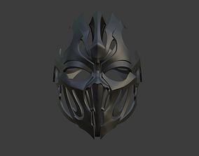 Noob Saibot helmet from Mortal Kombat 3D printable model 3