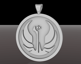 Old Galactic Republic Pendant Star Wars 3D print model