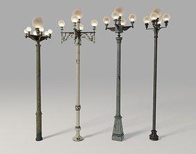 3D Los Angeles Street Lamps Pack