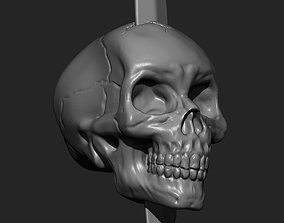 skull with sword 3D