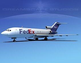 3D Boeing 727-100 FedEx