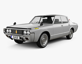 3D model Toyota Crown sedan 1971