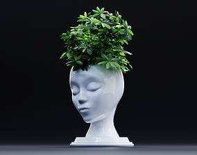 Head vase 3D print model