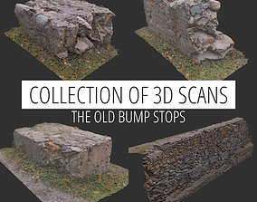 game-ready 3d Scan collection remains of concrete crash