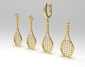 Tennis racket in variations 3D printable model