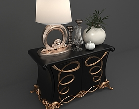 Classic Bedside Cabinet 3D
