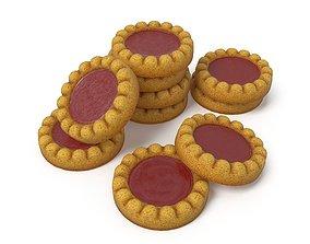 Sponge cakes with jam 3D asset
