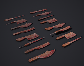 3D model Modular Bloody Knives with interchangeable Hilts
