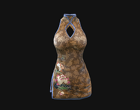 3D asset low-poly textures Dress