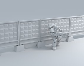 Russian - Fence PO-2-fence slab-2 Clear 3D print model