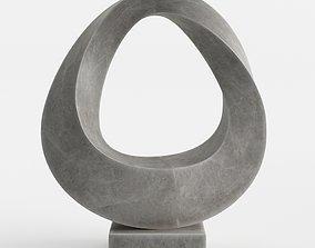 Modern Decorative Abstract Stone Art Sculpture 06 3D model