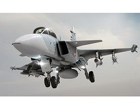 3D model JAS 39 Gripen Jet aircraft