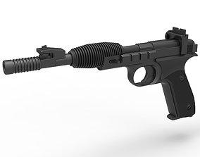 3D Blaster pistol X-30 from Star Wars Return of the