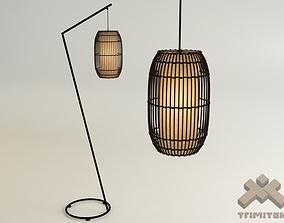 3D KAI Z Floor Lamp and KAI Lantern-Small set