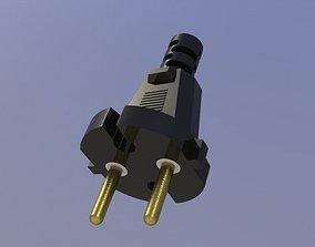 Power plug 3D model