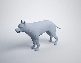 3D printable model Lowpoly Dog