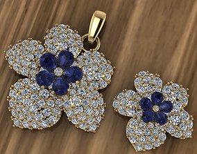 3D printable model Beautiful Gold Silver Pendant