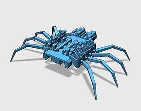 3D print model 8 legged spider robot