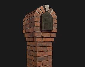 3D model realtime Brick Mailbox