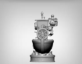 mickey mouse steamboat willie 3D printable model