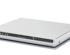 3D model Grey Lg Dvd Blue Ray Player