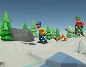 3D asset Ski - Props for Winter Runner